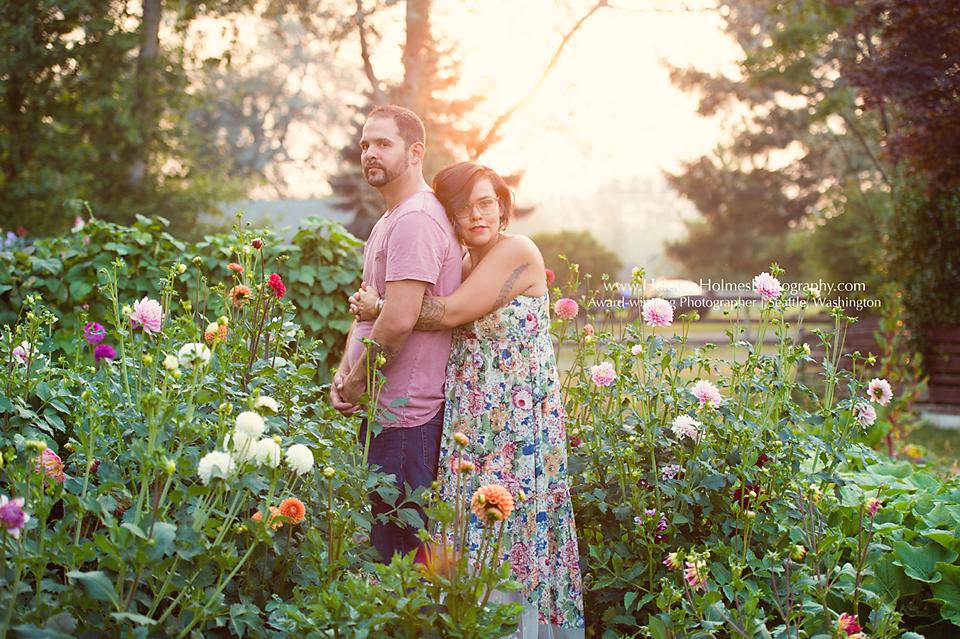 Seattle flower garden photo