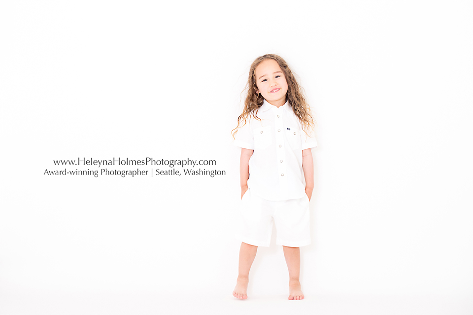 All White Photo Session Seattle