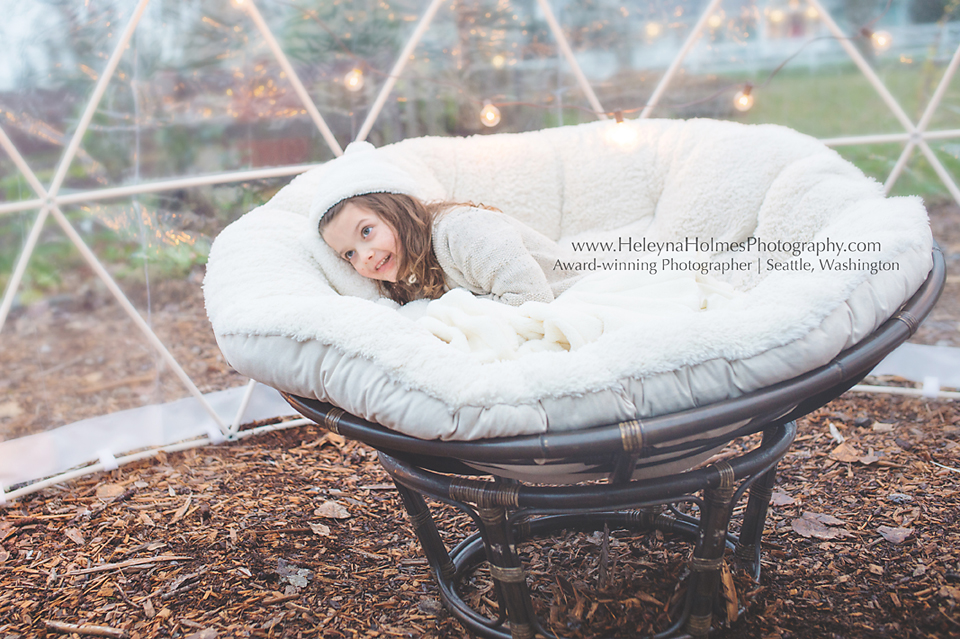 Garden Igloo - Tacoma Family Photographer